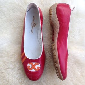 32890031f10 Walter Genuine red coco logo flats golf shoes